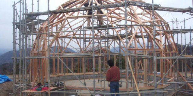 フラードームハウスジオデシック構造