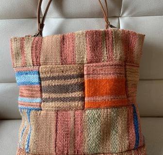 草木染手織りバック